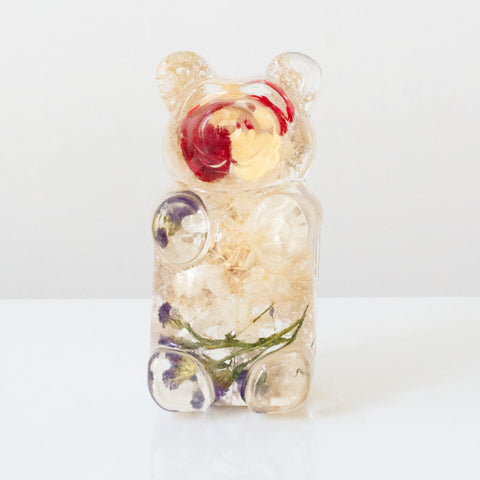 Cream & Red Floral Bear