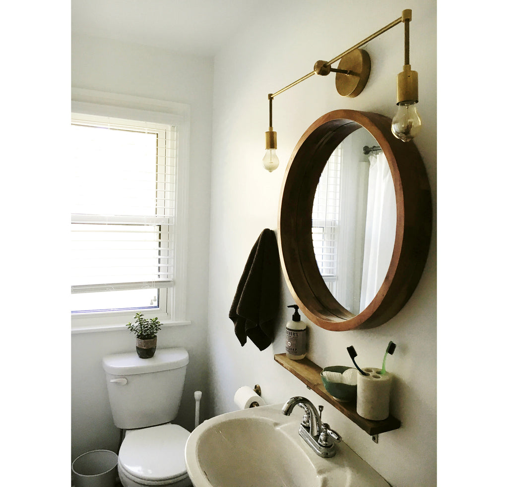 Nice Round Mirror Bathroom Photo - Bathroom Design Ideas - tykkk.info