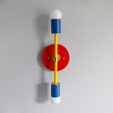 Colorblocked Medium Thalia Sconce