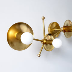 Brass Constellation inspired wall sconce or ceiling light fixture modern decor