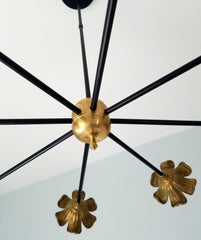 gold floral light black and brass floral chandelier art decor modern lighting