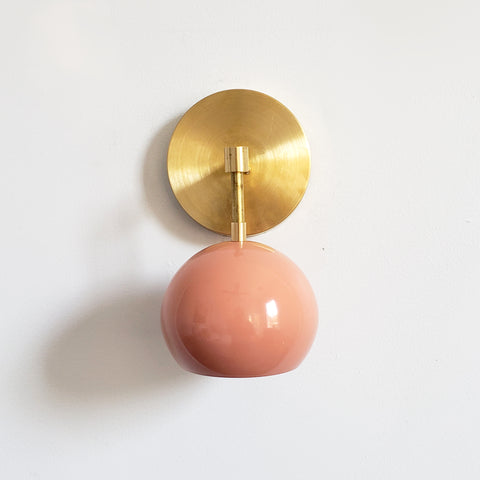Loa Sconce with Peach Shade