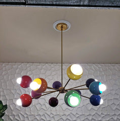 Rainbow chandelier with midcentury modern design