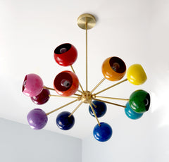 12 color rainbow chandelier nursery decor childrens decor