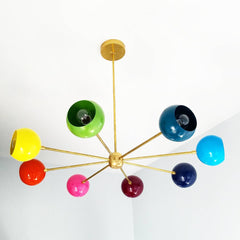 colorful chandelier childrens lighting modern nursery mid century modern