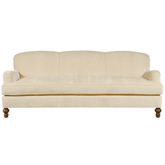 ivory english roll arm traditional styled velvet sofa in luxurious velvet fabric