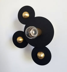 black and gold Asymmetric wall sconce or flushmount modern lighting