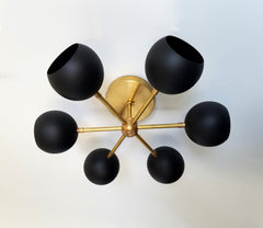 black and brass modern flushmount wall sconce lighting nursery decor lighting chandelier flushmount
