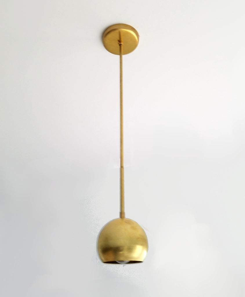 simple brass pendant eyeball shade brass lighting brass pendant light sazerac stitches