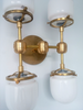 Four Post Ceiling fixture flushmount sconce modern brass lighting chrome bathroom sconce Sazerac Stitches