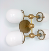 Glass and brass ceiling fixture Four Post Ceiling fixture flushmount sconce modern brass lighting chrome bathroom sconce