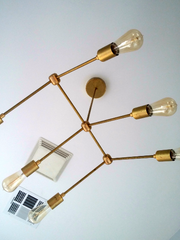 Faubourg Chandelier: 6-light angled chandelier