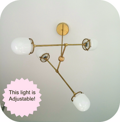 modern brass light adjustable