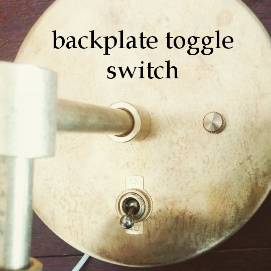 Backplate Toggle Switch