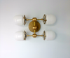 Four Post Ceiling fixture flushmount sconce modern brass lighting chrome bathroom sconce glass and brass modern chandelier