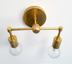 modern wall sconce brass bathroom lighting contemporary design