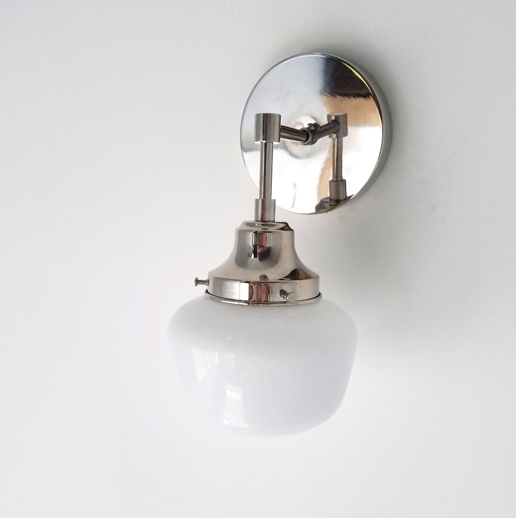 separation shoes e1f90 86618 Single McMain Schoolhouse Sconce - Sazerac Stitches