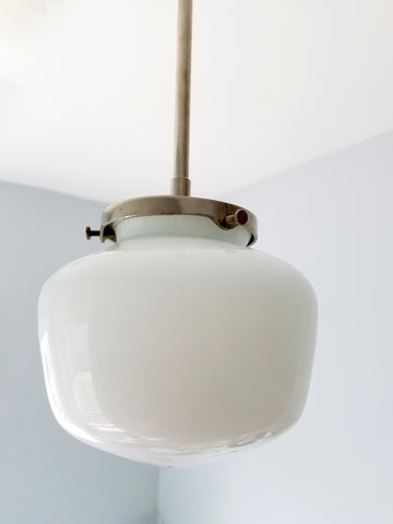 Simple Pendant with Schoolhouse Shade