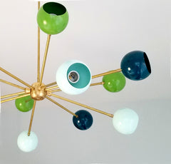 orion chandelier mid century design modern sputnik colorful lighting italian inspired