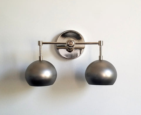 Double Loa Sconce with Steel Shades