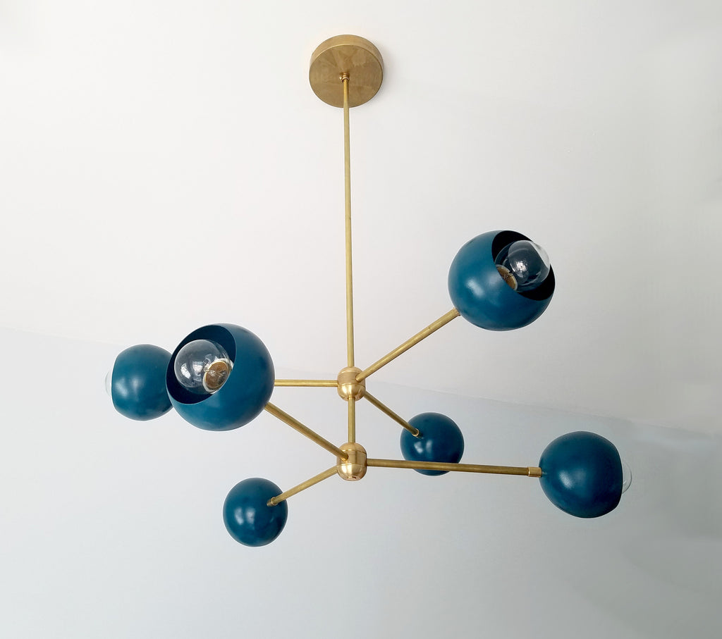 Globe Sputnik Chandelier Midcentury Modern Lighting