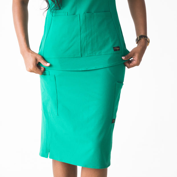 Surgery Green Scrub Skirt