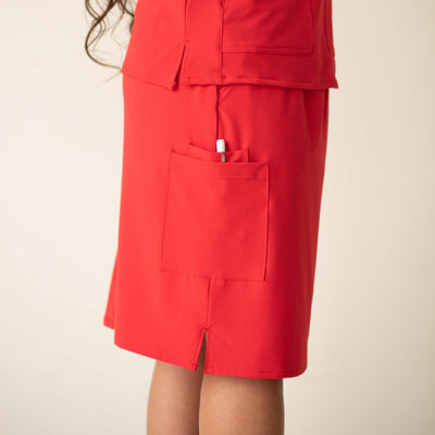Red Scrub Skirt