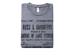 Russ & Daughters Gray Historic Shopping Bag T-Shirt