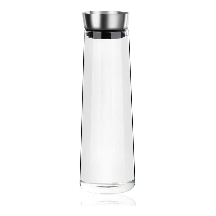 OTARTU 50 Oz Borosilicate Glass Pitcher, Drip-Free Carafe with Stainless Steel Silicone Seal Lid