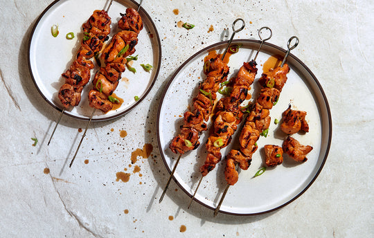 Korean BBQ Chicken Skewers