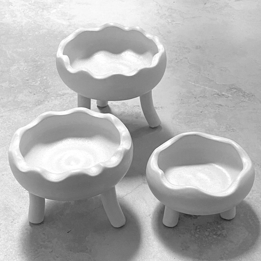 Matilda Ceramic Cloud Spice Bowl Trio