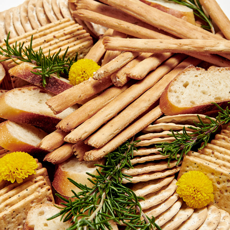 Bread and Crackers On The Go Board