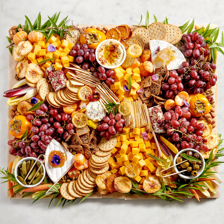 Cheese, Fruit & Crackers Wooden Board