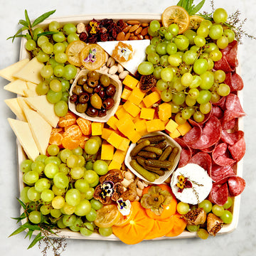 Meat, Cheese, Fruit and Nuts On The Go Board