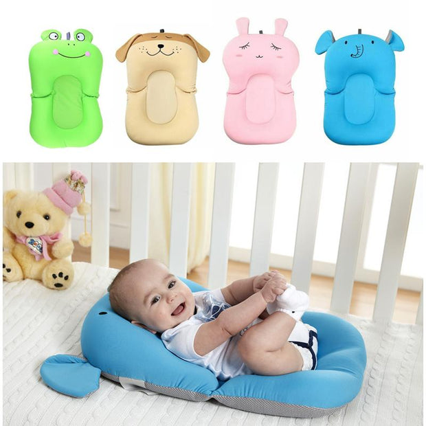 Portable Air Cushion, Bed Babies, New Born Safety  Bath Seat Support (50% OFF) Get it Soon
