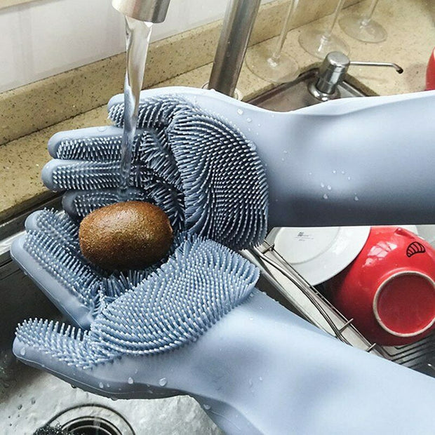 Our Magnific, Great and Multifunctional Silicone Dishwasher Washing Gloves Kitchen Accessories (40% OFF)