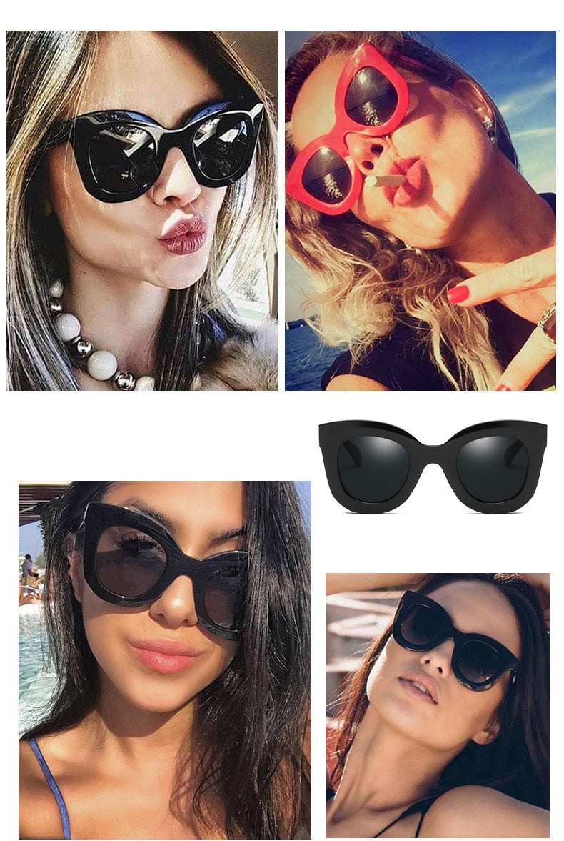 Victoria's New Fashion Cat Eye Sunglasses Women Brand Designer Vintage Gradient Cat Eye Sun Glasses Shades For Women UV400 MA216