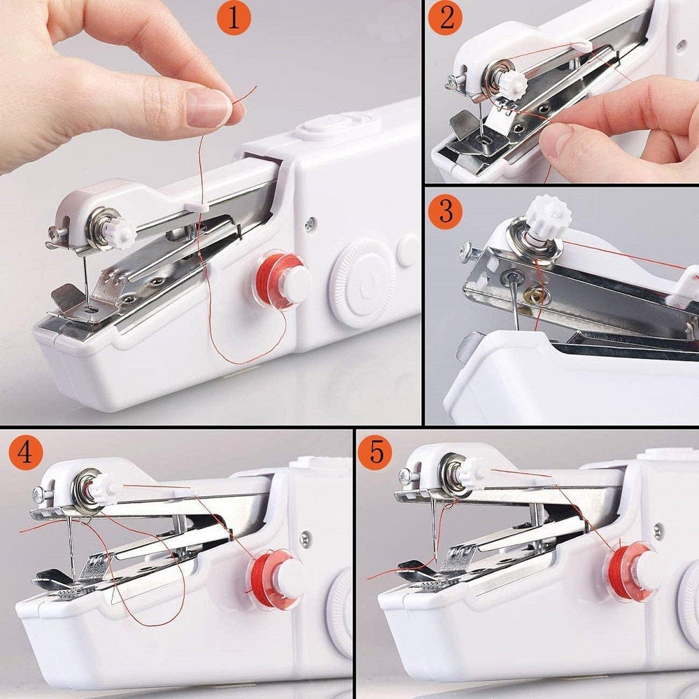 Authentic and portable , Our Hand Sewing Machine Quick Stitch Sew Needlework Cordless Clothes Fabrics Electronic Sewing Machine