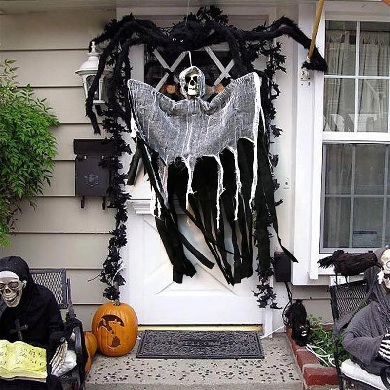 Scare, 100cm Skull Halloween Hanging Ghost Haunted House (35% OFF)