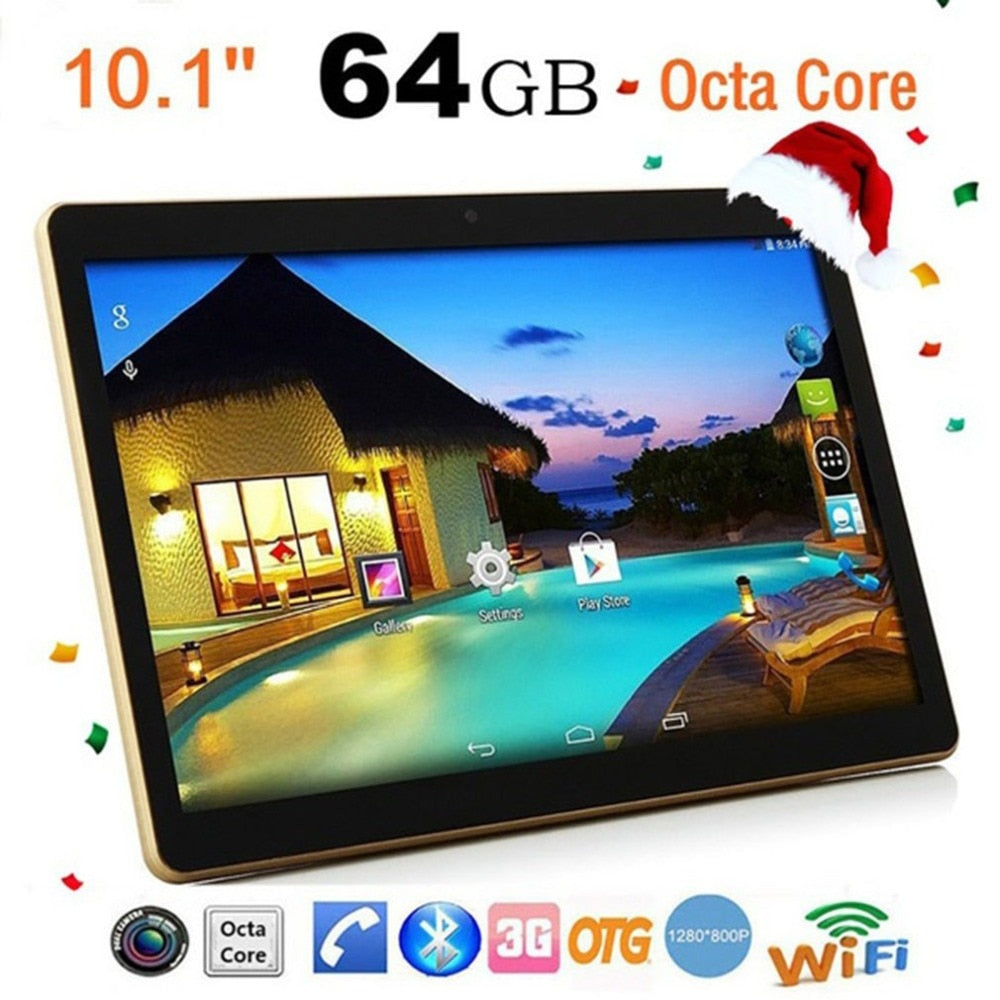 Amazing Tablet PC 10.1 Inch  RAM 4G ROM 64G Dual Card Dual Standby Dual Camera Bluetooth 4.0 Phone Wifi Tablet For Android 6.0 New