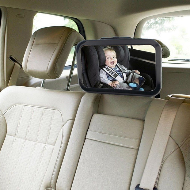 BB Fascinating Adjustable Belt Back Seat Car Inner Mirror Square