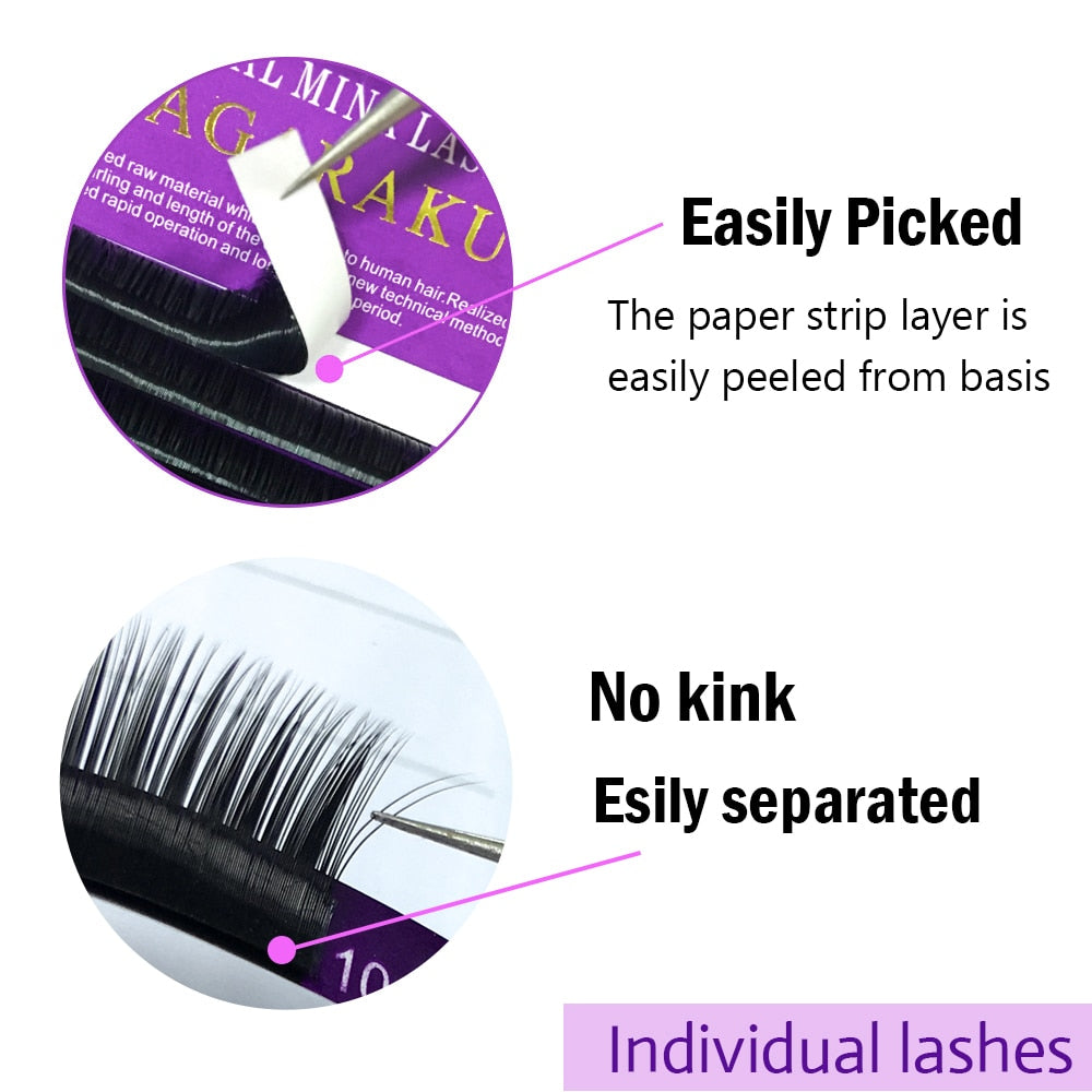2019, 16Rows,mink individual eyelash, eyelash extension (30% OFF)