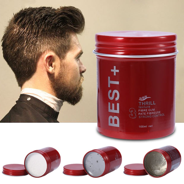 RL The Best Professional Hair Wax Pomade Long-lasting Fluffy  Gel Tool Transparent