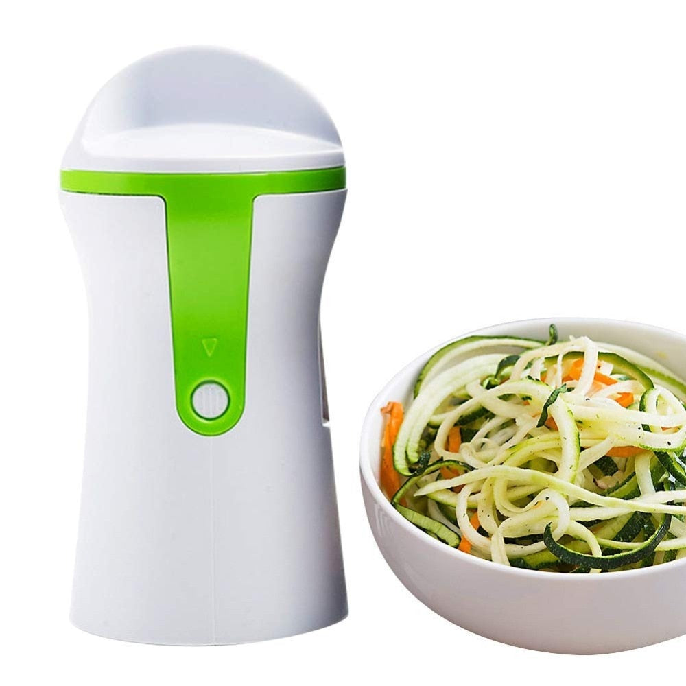 Our Portable Spiralizer , Vegetable Slicer Handheld Spiralizer Peeler Stainless Steel Spiral Slicer for Potatoes Zucchini Spaghetti