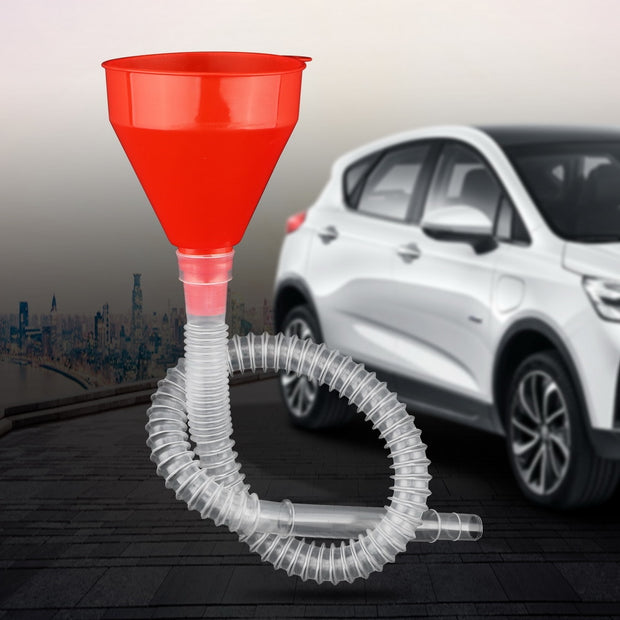 For you, 2 in 1 Plastic Water Tank Funnel Fuel Gasoline Petrol Diesel Funnel Flexible For Car Motorcycle Truck Vehicle Auto Accessories