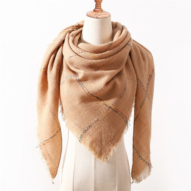 OUR Designer 2019! Winter Triangle Scarf For Women luxury Brand palid Shawl Cashmere Scarves warm neck Blanket lady bandana pashmina