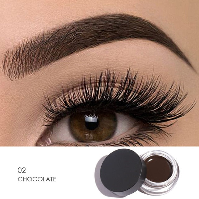 Perfect!!!! New Brand Professional  Waterproof Pomade Gel Long lasting 3D Natural Brown Eye