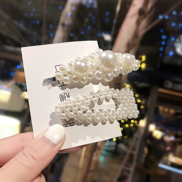 Fashion 2019, 1Set Women Girls Elegant Pearls Hair Clips (50% OFF)