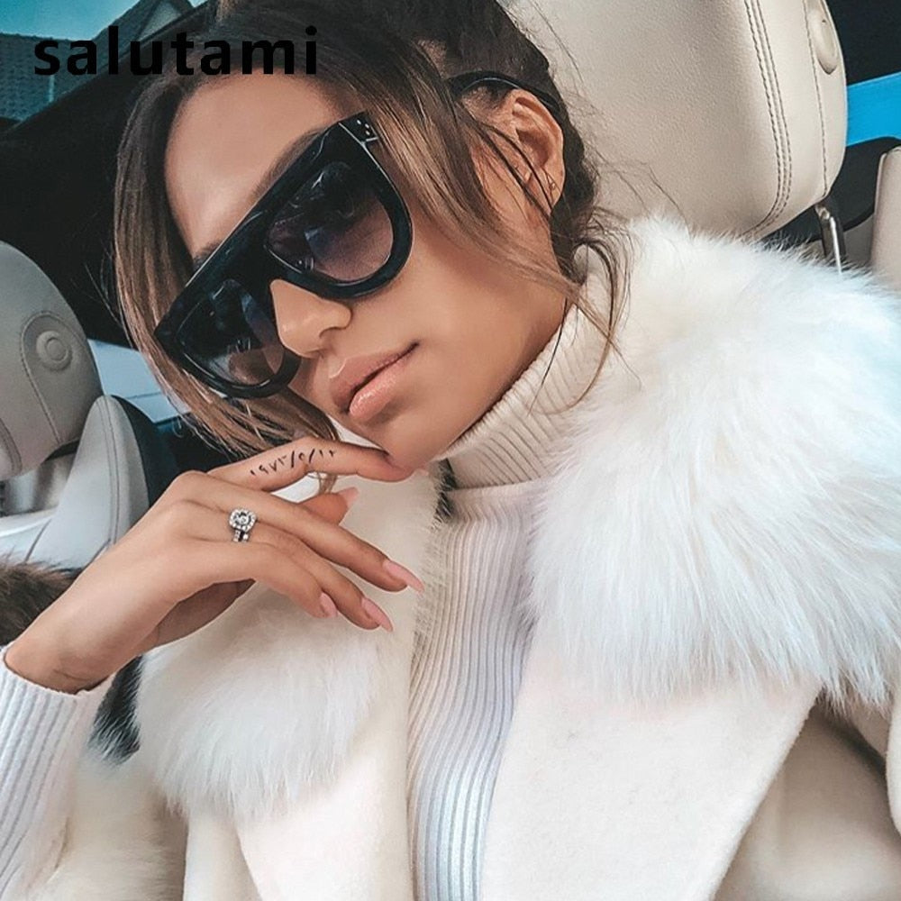 2019 SUMMER  Kim Kardashian Sunglasses Women Luxury Brand Designer Vintage Sun Glasses