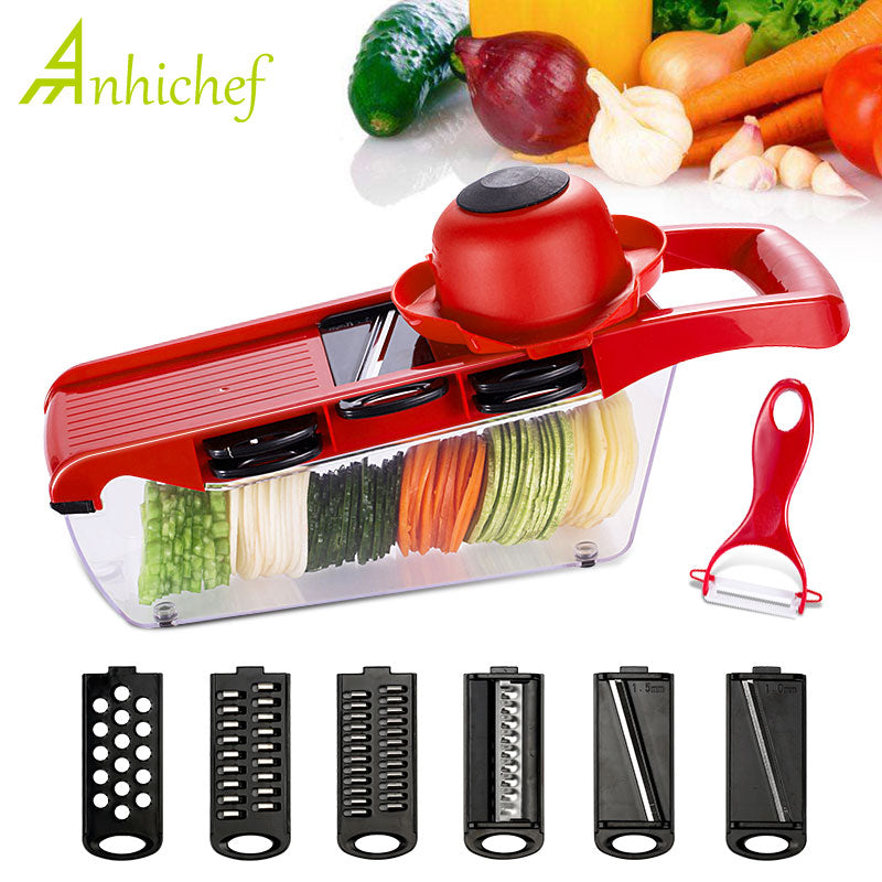It's OUR Manual Vegetable Cutter With Steel Blade Potato Peeler Carrot Grater Mandoline Vegetable Slicer Kitchen Accessories